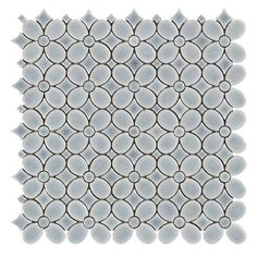 Dama Flora Polished Porcelain Mosaic - 12 x 12 - 100465970 | Floor and Decor