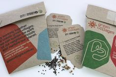 Custom designed Gifts of Seeds for City of Sydney