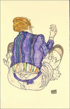 Edith(?) by Egon Schiele