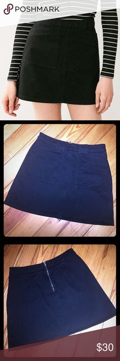 BDG Black Twill Utility Skirt size small Only worn once, sits high on waist. Perfect to wear with your favorite well worn tee and sneaker or dress up with boots and a chic top! BDG Skirts Mini
