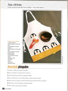 Moldes Para Artesanato em Tecido: AVENTAL DE Pinguin
