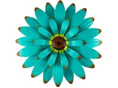 Blue Metal Wall Flower