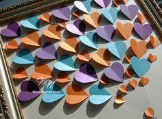 Wedding Guest Book Ideas  Purple-Orange-Light by WeddingUkraine