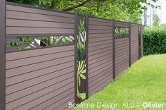 Lame Deco Pour Cloture Composite En Aluminium   Boreale Design OLIVIER    Océwood®