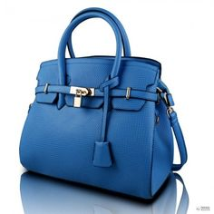 L1413 - Miss Lulu Padlock Boston kézi táska Plain kék Boston 573246a1c6