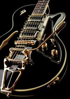 #BlackandGold Electric Guitar