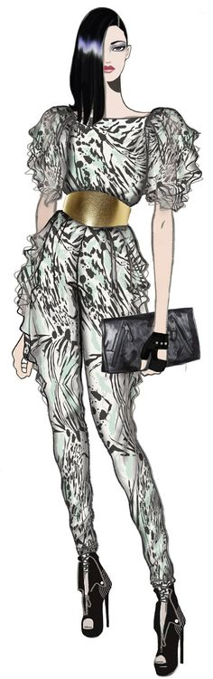 ➗JAA design original fashion illustration.