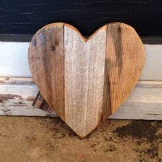 Our small heart is big on LOVE! Measuring approximately 1 ft by 1 ft, this sweet heart is created from reclaimed wood and is perfect for displaying just about