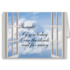 Multi Occasion Thought Of You Card Window to the world Simple design of a open window looking out to the fluffy clouds