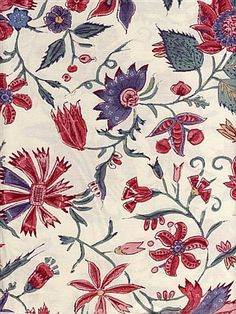 "Den Haan & Wagenmakers B.V. :: ""Reproduction of an orignal chintz, dated 1780, out of the collection of the 'Fries Museum' in Leeuwarden."""
