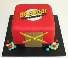 "Big Bang Theory ""Bazinga"" Cake!  Peace.Love.Sugar https://www.facebook.com/pages/PeaceLoveSugar/107504169339809"
