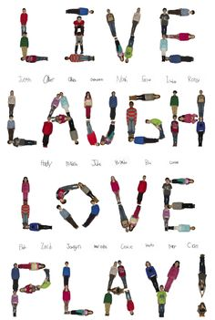 Every child in the class has a place in this fun poster that features the kids in various postures, and their signatures beneath the words. Source: Rebecca Gruber