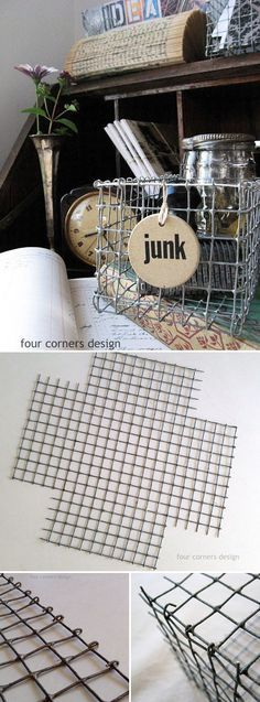 TUTORIAL :: DIY WIRE BASKETS :: Make your own woven wired basket using hardware…