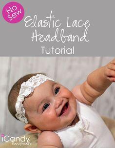 DIY Tutorial DIY Hair Accessories / DIY No-Sew Elastic Lace Headband and Bonus Giveaway - Bead&Cord