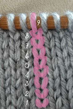 How To Count Rows in Garter and Stocking Stitch — Blissfully Crafted If you have trouble wrapping your head around counting and keeping track of your rows when knitting, click through to re. Knitting Basics, Knitting Help, Loom Knitting, Knitting Stitches, Knitting Projects, Hand Knitting, Knitting Patterns, Crochet Patterns, Knitting Tutorials