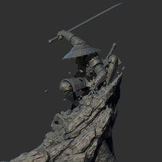 rock, jun liang on ArtStation at https://www.artstation.com/artwork/eDa43