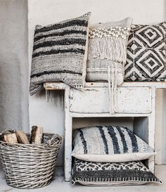 Eightmood's new #pillows prove especially versatile across a style spectrum, from a Scandinavian minimalist space to a lush Bohemian interior. See them at #LVMkt July 30 - Aug. 3. #FirstLookLVMkt