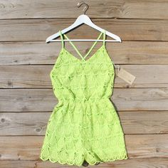 Mojito Lace Romper, Sweet Summer Rompers from Spool No.72. | Spool No.72