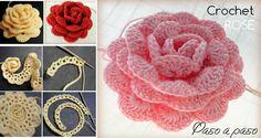 205 Mejores Imagenes De Rosas Crochet Crochet Flowers Crochet