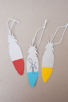 The L Blog | Lifestyle Crafts - Brightly Tipped Feather Tags