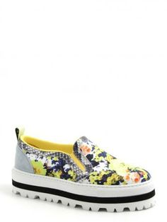 MSGM-sneakers slip on in tela-canvas slip on sneakers-MSGM 2014 shop online