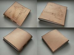 Kožený zápisník - originálny denník, hladenica, ručná práca / handmade book / bookbinding / long stitch / leather journal / notebook / diary / fotoalbum / house / pyrography