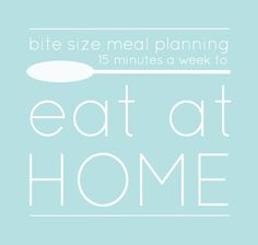 Bite Size Meal Planning {15 minutes a week} on GTR