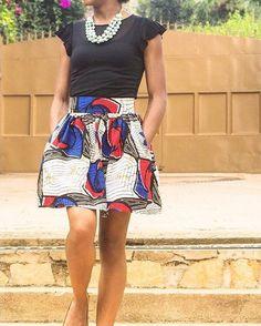 Ankara ❤! Last skirt available in our Etsy boutique. Link in bio. Don't miss out! #ankarafashion #ankarastyles #ankaraprint
