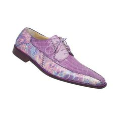695d73c5fb1 Cotton Candy Crocodile   Ostrich. Mauri Shoes - Made in Italy