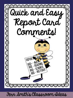 Are you exhausted with all the end of the year deadlines? But do you enjoy writing something sweet on each and every report card to send the students into summer with something positive? Pin this post to have help with some quick and easy report card comments! #FernSmithsClassroomIdeas