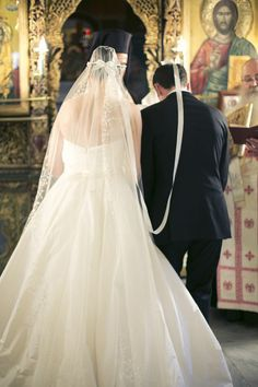 Intimate church wedding in Greece. Image: Anna Roussos