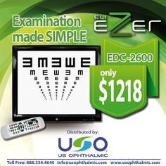 $1216 http://usophthalmic.com Our Screen Projector Ezer EDC-2600!!!
