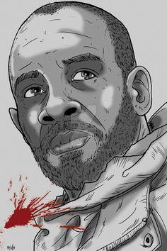 Walking Dead Sketch Card: Morgan by darlinginc
