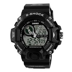 TONSHEN Mens Military Sports Watches Multifunction Analog Digital Wrist Watch Black *** Check out the image by visiting the link. (Note:Amazon affiliate link)