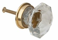 Glass Knob - Large Clear