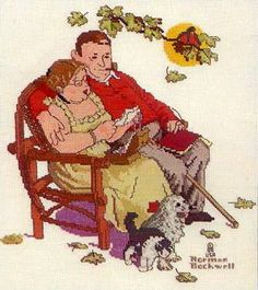 """Norman Rockwell's """"Fondly Do We Remember"""" - Pattern: http://frango.gallery.ru/watch?a=NKN-dqrm"""