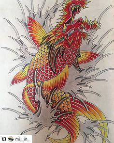 #Repost @mi__in_ 🙏🙏 #irezumi #tattoo #tattoosketch #japanesetattoo #japanesetattoodesign #wabori #tattoodesign #horimono #orientaltattoodesign #addflash_ @addflash_ Dragon Koi Fish, Koi Dragon Tattoo, Koi Fish Tattoo, Dragon Tattoo Designs, Japanese Tattoo Art, Japanese Tattoo Designs, Weird Drawings, Naruto Tattoo, Japanese Koi