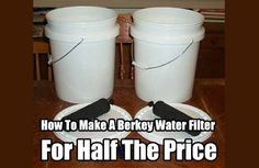 Home Made Berkey Water Filter. Make this water filter for HALF the price and get the same water purifying properties as the real Berkey. Save money today
