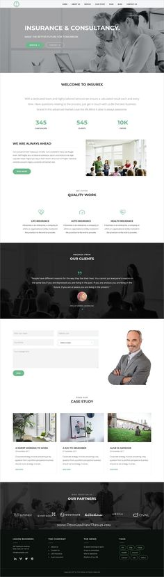 Iasion is clean and modern design 2in1 responsive #WordPress theme for #insurance agency website to live preview & download click on Visit