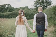A Floral Crown And Backless Gown For An Enchanting Woodland Wedding   Love My Dress® UK Wedding Blog