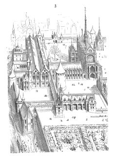 Paris' Royal Palace. Historical palaces with floorplans and explanations (in French)