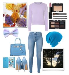 """The Fall Sky"" by fashionkat20 ❤ liked on Polyvore featuring 7 For All Mankind, Glamorous, NARS Cosmetics, Semilla, Hermès and Coal"