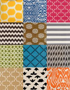 Fabrics by Madeline Weinrib: Love the ethnic inspiration and the beautiful colors.
