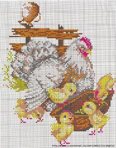 5 of 6 Rooster Cross Stitch, Chicken Cross Stitch, Cross Stitch Kitchen, Cross Stitch Needles, Cross Stitch Animals, Cross Stitch Pillow, Stitch Book, Cross Stitch Charts, Cross Stitch Patterns