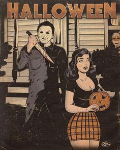 Halloween Profile Pics, Halloween Drawings, Halloween Movies, Creepy Halloween, Horror Comics, Horror Art, Best Horror Movies, Vintage Horror, Vintage Cartoon