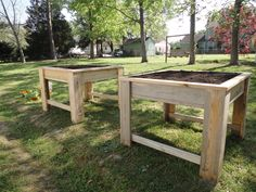 Ergonomic raised beds