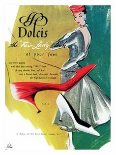 Dolcis Shoes Advert, 1950s, vinmag.com