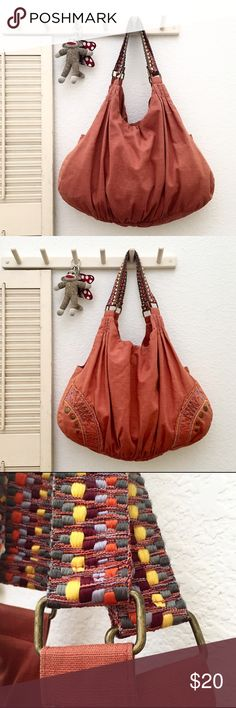 Decree Funky Slouchy Boho Bag with Woven Straps More details and measurements to come Decree Bags Shoulder Bags