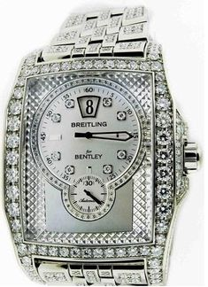 Breitling Bentley Flying B 18k White Gold Diamond Watch. #World #Best #Watch #Diamond #White #Gold