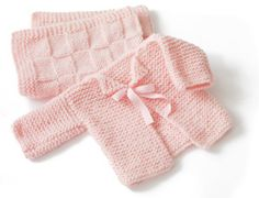 Glamour-Baby's First Cardigan (free knitting pattern by Lion Brand)